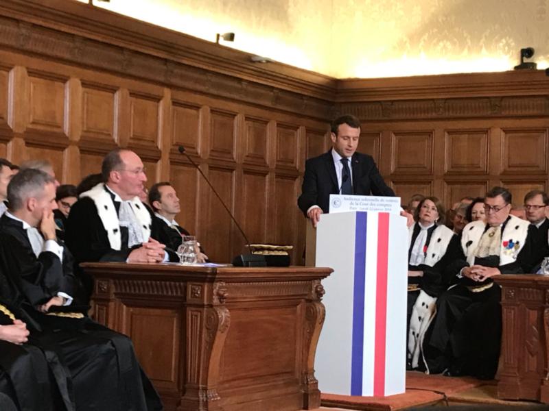 Audience solennelle de rentrée de la Cour des Comptes en présence du Président de la République