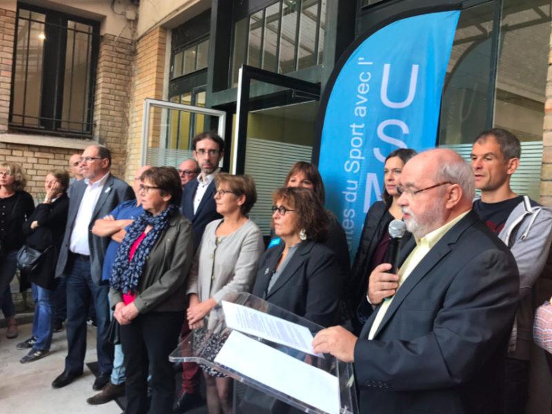 Inauguration des locaux de l'USM Malakoff: le sport au service des citoyens