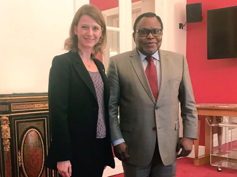 Avec l'ambassadeur du Bénin pour renforcer les liens entre nos deux pays