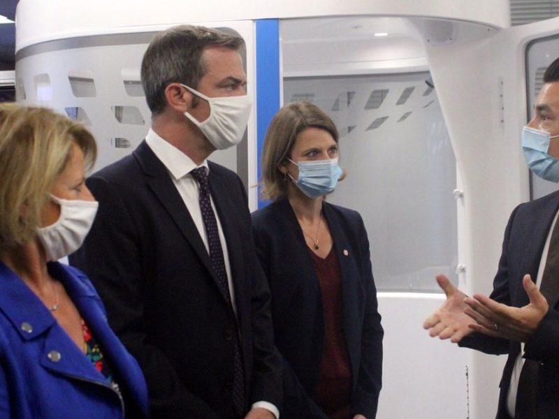 Au Campus Croix-Rouge de Montrouge : j'accueille les Ministres O.Véran, B.Bourguignon et O.Grégoire