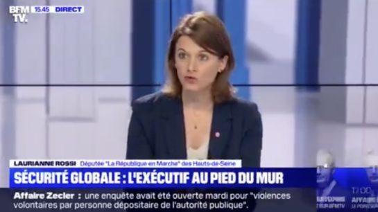 Loi sécurité globale et article 24 : Laurianne Rossi invitée de BFM TV
