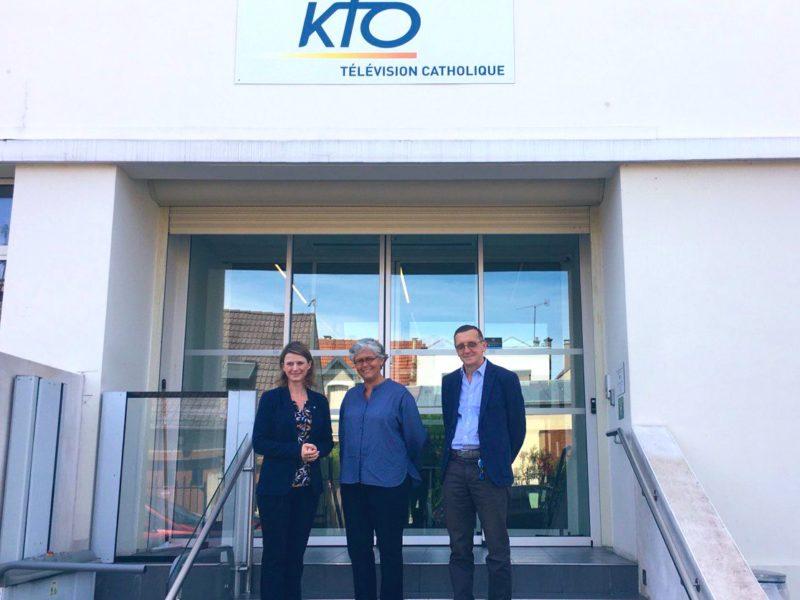 Visite de la chaîne KTO TV à Malakoff