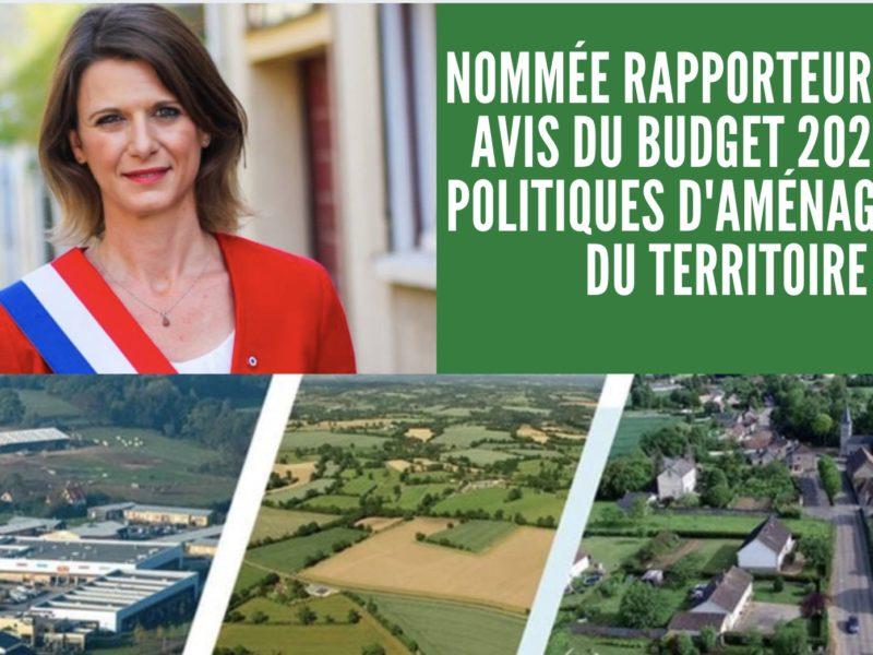 Budget 2022 : Nommée rapporteure pour avis du programme Aménagement du territoire